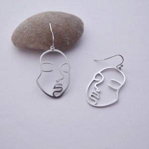 🆕 Abstract Face Earrings in Silver